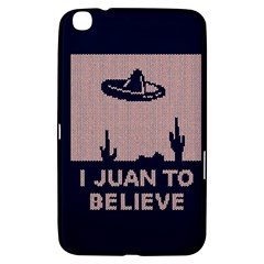 I Juan To Believe Ugly Holiday Christmas Blue Background Samsung Galaxy Tab 3 (8 ) T3100 Hardshell Case