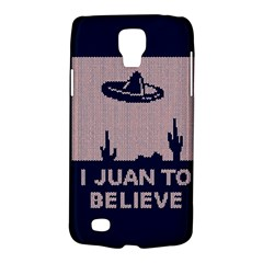 I Juan To Believe Ugly Holiday Christmas Blue Background Galaxy S4 Active