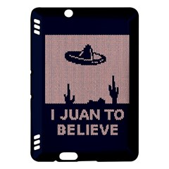 I Juan To Believe Ugly Holiday Christmas Blue Background Kindle Fire HDX Hardshell Case