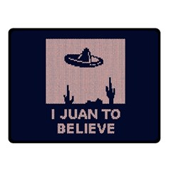 I Juan To Believe Ugly Holiday Christmas Blue Background Double Sided Fleece Blanket (Small)