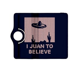 I Juan To Believe Ugly Holiday Christmas Blue Background Kindle Fire HDX 8.9  Flip 360 Case