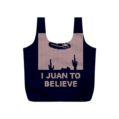 I Juan To Believe Ugly Holiday Christmas Blue Background Full Print Recycle Bags (s)