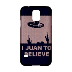 I Juan To Believe Ugly Holiday Christmas Blue Background Samsung Galaxy S5 Hardshell Case