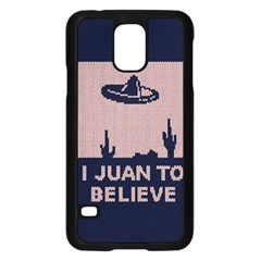 I Juan To Believe Ugly Holiday Christmas Blue Background Samsung Galaxy S5 Case (Black)