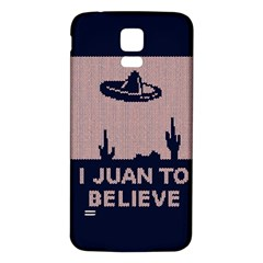 I Juan To Believe Ugly Holiday Christmas Blue Background Samsung Galaxy S5 Back Case (white)