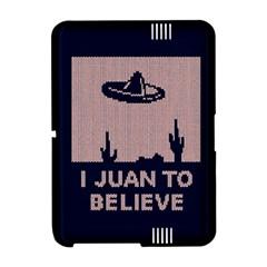 I Juan To Believe Ugly Holiday Christmas Blue Background Amazon Kindle Fire (2012) Hardshell Case
