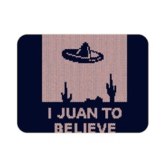 I Juan To Believe Ugly Holiday Christmas Blue Background Double Sided Flano Blanket (Mini)