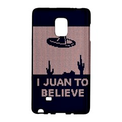 I Juan To Believe Ugly Holiday Christmas Blue Background Galaxy Note Edge