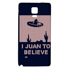 I Juan To Believe Ugly Holiday Christmas Blue Background Galaxy Note 4 Back Case