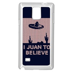 I Juan To Believe Ugly Holiday Christmas Blue Background Samsung Galaxy Note 4 Case (white)