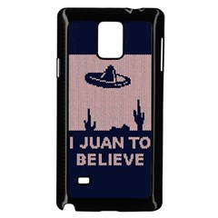 I Juan To Believe Ugly Holiday Christmas Blue Background Samsung Galaxy Note 4 Case (Black)