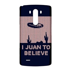 I Juan To Believe Ugly Holiday Christmas Blue Background LG G3 Back Case