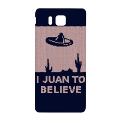 I Juan To Believe Ugly Holiday Christmas Blue Background Samsung Galaxy Alpha Hardshell Back Case