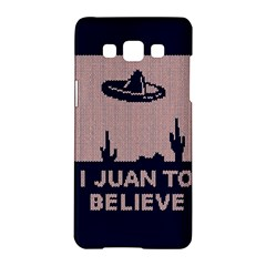 I Juan To Believe Ugly Holiday Christmas Blue Background Samsung Galaxy A5 Hardshell Case