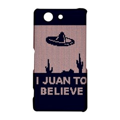 I Juan To Believe Ugly Holiday Christmas Blue Background Sony Xperia Z3 Compact