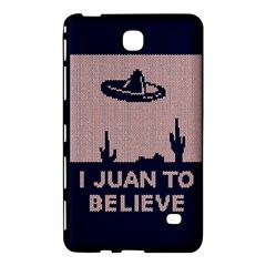 I Juan To Believe Ugly Holiday Christmas Blue Background Samsung Galaxy Tab 4 (7 ) Hardshell Case
