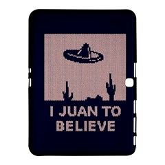 I Juan To Believe Ugly Holiday Christmas Blue Background Samsung Galaxy Tab 4 (10.1 ) Hardshell Case