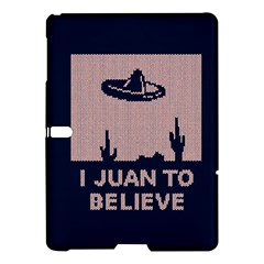 I Juan To Believe Ugly Holiday Christmas Blue Background Samsung Galaxy Tab S (10.5 ) Hardshell Case