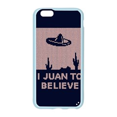 I Juan To Believe Ugly Holiday Christmas Blue Background Apple Seamless iPhone 6/6S Case (Color)