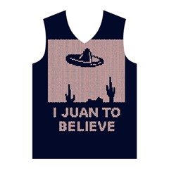 I Juan To Believe Ugly Holiday Christmas Blue Background Men s Basketball Tank Top