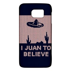 I Juan To Believe Ugly Holiday Christmas Blue Background Galaxy S6