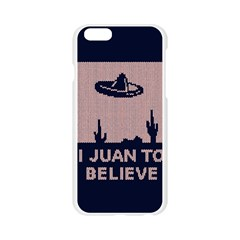 I Juan To Believe Ugly Holiday Christmas Blue Background Apple Seamless iPhone 6/6S Case (Transparent)