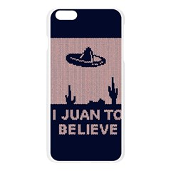 I Juan To Believe Ugly Holiday Christmas Blue Background Apple Seamless iPhone 6 Plus/6S Plus Case (Transparent)
