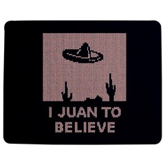 I Juan To Believe Ugly Holiday Christmas Blue Background Jigsaw Puzzle Photo Stand (Rectangular)