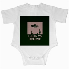 I Juan To Believe Ugly Holiday Christmas Green background Infant Creepers