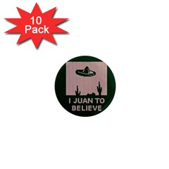I Juan To Believe Ugly Holiday Christmas Green background 1  Mini Magnet (10 pack)