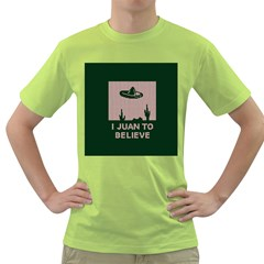 I Juan To Believe Ugly Holiday Christmas Green background Green T-Shirt