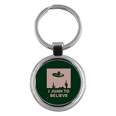 I Juan To Believe Ugly Holiday Christmas Green background Key Chains (Round)