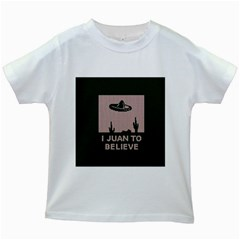 I Juan To Believe Ugly Holiday Christmas Green background Kids White T-Shirts