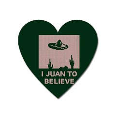 I Juan To Believe Ugly Holiday Christmas Green background Heart Magnet