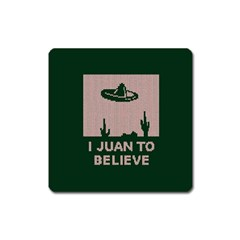 I Juan To Believe Ugly Holiday Christmas Green background Square Magnet