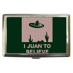 I Juan To Believe Ugly Holiday Christmas Green background Cigarette Money Cases