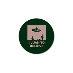 I Juan To Believe Ugly Holiday Christmas Green background Golf Ball Marker