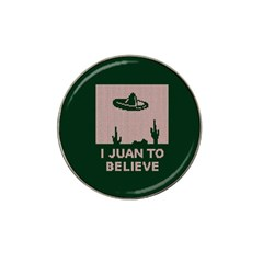 I Juan To Believe Ugly Holiday Christmas Green background Hat Clip Ball Marker (10 pack)