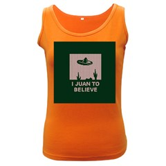 I Juan To Believe Ugly Holiday Christmas Green background Women s Dark Tank Top