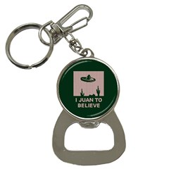 I Juan To Believe Ugly Holiday Christmas Green background Bottle Opener Key Chains