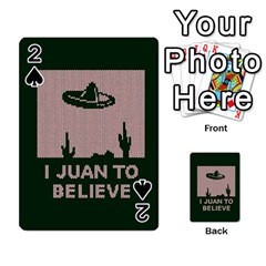 I Juan To Believe Ugly Holiday Christmas Green background Playing Cards 54 Designs