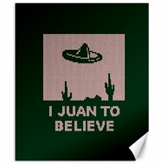 I Juan To Believe Ugly Holiday Christmas Green background Canvas 20  x 24