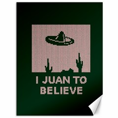 I Juan To Believe Ugly Holiday Christmas Green background Canvas 36  x 48