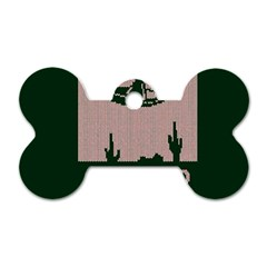 I Juan To Believe Ugly Holiday Christmas Green background Dog Tag Bone (One Side)