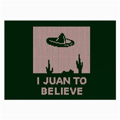 I Juan To Believe Ugly Holiday Christmas Green background Large Glasses Cloth