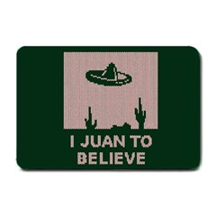 I Juan To Believe Ugly Holiday Christmas Green background Small Doormat