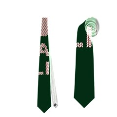 I Juan To Believe Ugly Holiday Christmas Green background Neckties (One Side)