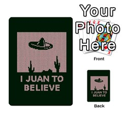 I Juan To Believe Ugly Holiday Christmas Green background Multi-purpose Cards (Rectangle)