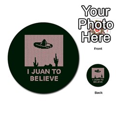 I Juan To Believe Ugly Holiday Christmas Green Background Multi Purpose Cards (round)
