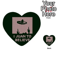 I Juan To Believe Ugly Holiday Christmas Green background Multi-purpose Cards (Heart)